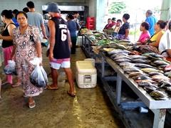 Apia fish market scene