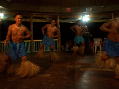 The Samoan men slapped their chests a lot during their Fiafia dance