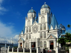 Mulivai Catholic Cathedral - the prettiest church in Samoa
