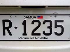 Samoan license plate