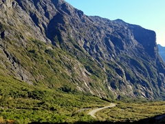 Amazing vista on our drive out from Milford Sound