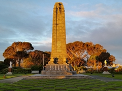 The Great War (WWI) memorial for Southland soldiers; Invercargill