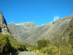Spectacular drive out from Milford Sound (we found the drive to be almost as good as the cruise!)