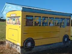 Artistic bus stop; Colac Bay