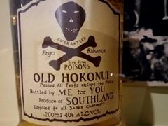 Hokonui moonshine label