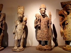A small sample of the best display of west Africa artifacts we've ever seen; Eastern Southland Gallery