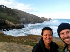 Selfie at Tunnel Beach