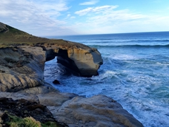 Natural sea arch of Tunnel Beach