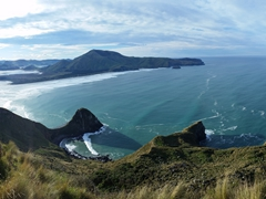 Rugged southern coastline of the Otago Peninsula