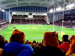 Our first rugby match at the Forsyth Barr Stadium between the Highlanders vs the Lions was phenomenal! We rooted for the Highlanders who beat the Lions 23-22