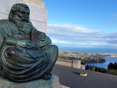 Statue at Signal Hill Lookout; Dunedin