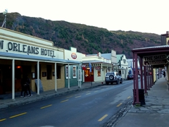 Stores on Buckingham Street, Arrowtown's main shopping street
