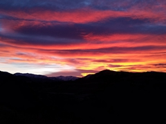 Colorful Queenstown sunrise