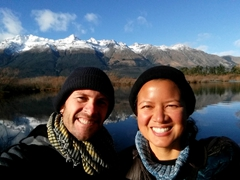 Taking a selfie in pretty Glenorchy