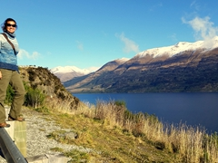Stopping to admire the view on the drive from Glenorchy to Queenstown
