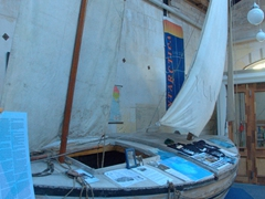 A movie prop replica of the James Caird inside Adventure Books, a true gem in the heart of Oamaru's Victorian Precinct