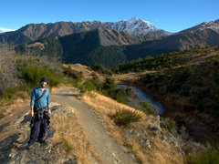 Robby hiking up Queenstown Hill