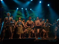 Wakatipu High School's kapa haka group performance; Queenstown Winter Festival