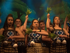 What a great haka performance put on by the students of Wakatipu High School; Queenstown Winter Fest