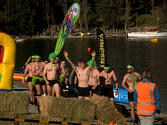 Next up is the Undy 500 race, an obstacle course where the contestants wear nothing but their JUCY undies
