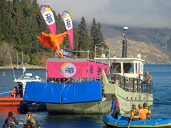 """I believe I can Fly"" - Birdman competition at the Queenstown Winter Festival"