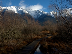 Lagoon boardwalk in Glenorchy