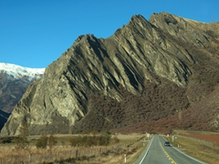 Scenic drive through Central Otago