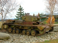 Circa 1941 Vickers-Armstrongs Valentine tank; Wanaka National Transport and Toy Museum