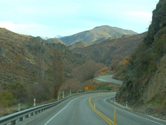 Lots of curves on Kawarau Gorge Road