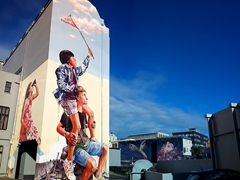 Street Art by Fintan Magee in Dunedin