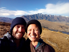 Selfie at the top of the mountain; Queenstown Hill