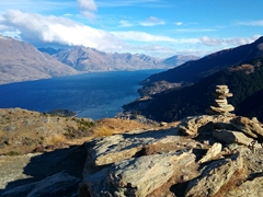 Amazing vistas from the top of Queenstown Hill