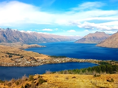 Panorama from the top of Queenstown Hill