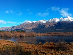 Panorama of Glenorchy Lagoon Boardwalk