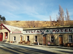 The Vulcan Hotel in St Bathans is reputedly the most haunted hotel in New Zealand