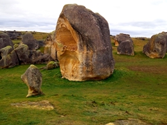 Weathered limestone formations at Elephant Rocks; Duntroon