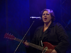 Anika Moa performing at the Queenstown Winter Festival