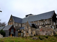 Destruction from the Feruary 2011 earthquake still visible on ChristChurch Cathedral; Christchurch