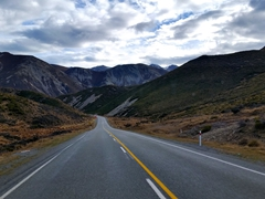 Stunning scenery as we drive towards Arthur's Pass