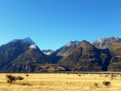 Jaw dropping scenery on our Mt Cook road drive