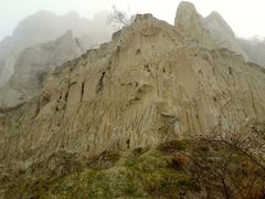 The clay cliffs of Omarama are formations made up of layers of gravel and silt