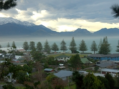 View of Kaikoura as we finish the peninsula hike and head back into town