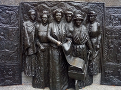 Women's suffrage memorial, Christchurch. We were amazed to learn that New Zealand became the first country in the world to grant women the right to vote on 19 Sept, 1893