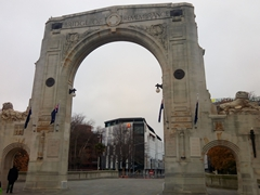 Bridge of Remembrance dedicated to those who died in WWI; Christchurch