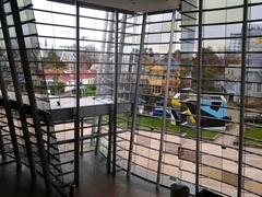 Looking out from the Central Art Gallery; Christchurch