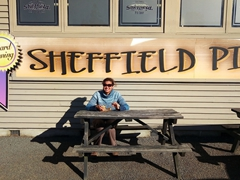 Quick lunch stop at the award winning Sheffield Pie Shop; Great Alpine Highway
