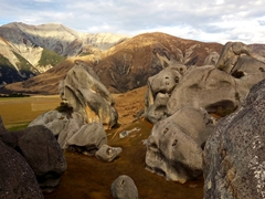 Stunning limestone boulders of Castle Hill