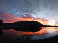 Colorful sunrise over Lake Clearwater - well worth the early wake up!