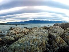 View on our Peninsula walkway hike around Kaikoura
