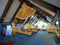 Interior of Mt Cook's excellent visitor center